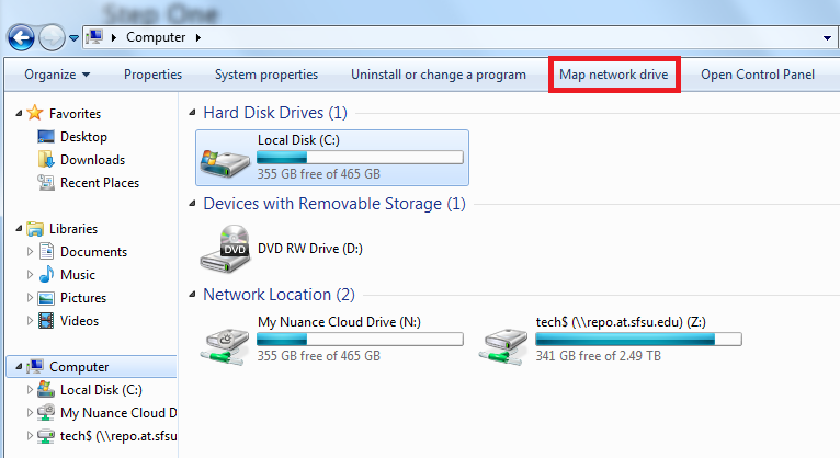 How to map a network drive (Windows 7) – Academic Technology ... Map Drive In Windows on format hard drive windows 7, map drive windows 8, see full map windows 7, map drive windows 10, map a network drive win7, map drive xp, external hard drive compatible with windows 7, map icon windows 8, disconnected network drive icon windows 7,