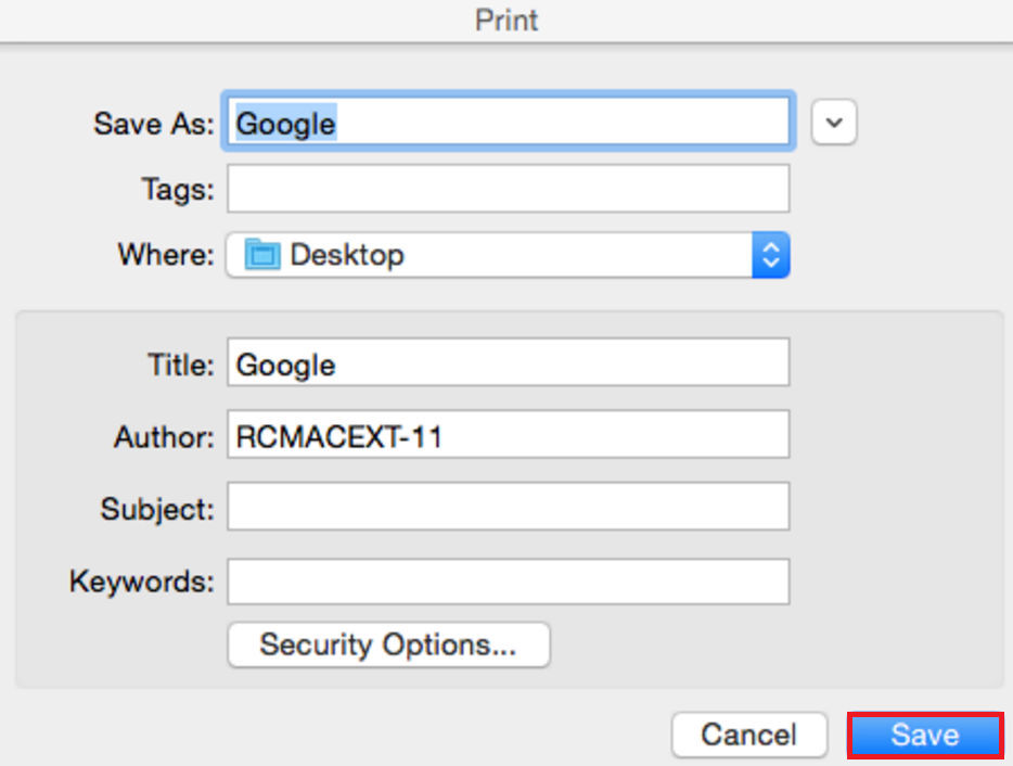 How To: Save a Document as PDF on Mac (from Firefox